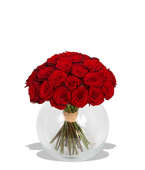 Unbranded Finest Bouquets - Mass of Red Roses