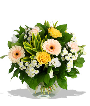 Finest Bouquets - Smiling Angel Seasonal meadow blossoms Shiny happy...