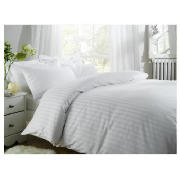 Unbranded Finest Satin Stripe Superking Duvet, White