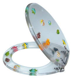 Fun fish transparent toilet seat review compare prices for Fish toilet seat