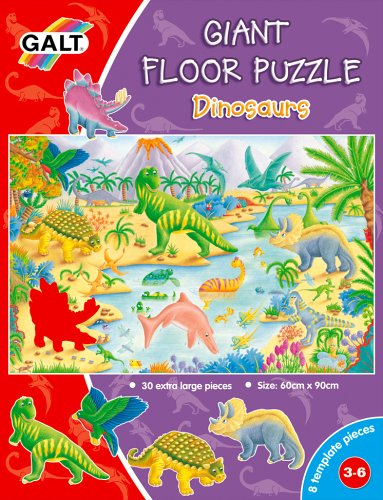Giant Floor Puzzle Dinosaurs- James Galt