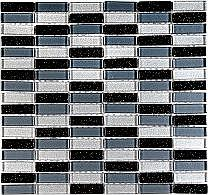 Create a luxurious feature in your home with Glitter Brick BGSThis mosaic is ideal for giving a modern twist to the average kitchen or bathroomThis black grey and silver glass mosaic is an ideal way of creating a stunning feature on a wall without br