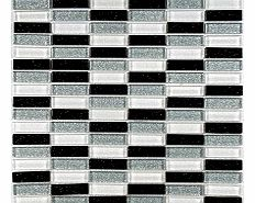 Create a luxurious feature in your home with Glitter Brick BWSThis mosaic is ideal for giving a modern twist to the average kitchen or bathroomThis black white and silver glass mosaic is an ideal way of creating a stunning feature on a wall without b