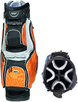 "8-way fully divided. 9.5"" diameter. 8 spacious pockets. Cooler pouch. Large clothing pockets"