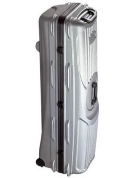 11 inch hard golf flight case. Large capacity holds bags up to 11 inches in diameter and drivers up