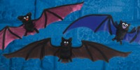 Unbranded Gruesome Horror - 55cm Colourful Bat (1 of Asst)