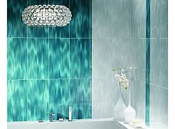 Bring life into your bathroom or kitchen with this beautiful waterfalleffect tileHall Blue is perfect for creating a dazzling feature wall whilst also creating the illusion of space in a room due to its textured effect and light reflecting qualitiesU