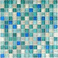 Create a luxurious feature in your home with Hammered Pearl Aqua MosaicThis green blue and white mosaic is ideal for giving a modern twist to the average kitchen or bathroomThis mosaic has a lovely delicate pearl finish which has a stunning reflectiv
