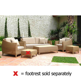 Havana Coffee Table2 Seater Sofa2 Armchairs -