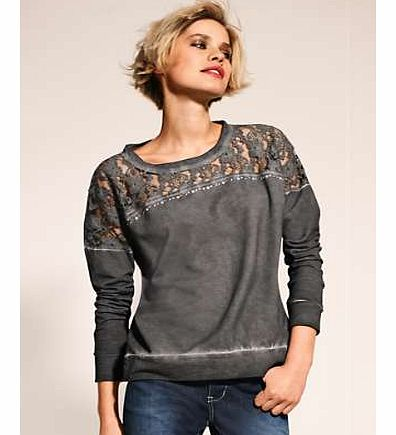 Unbranded Heine Lace Detailed Sweat Top