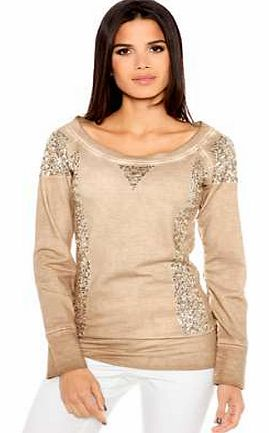 Unbranded Heine Sequin Detailed Sweatshirt