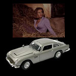 We are delighted to offer this extra special version of the Aston Martin DB5 signed by `Pussy