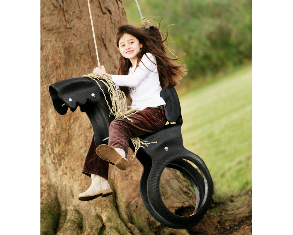 This ingeniously designed swing is made from a single tyre. Supplied with 4.5 metres of rope and ins - CLICK FOR MORE INFORMATION