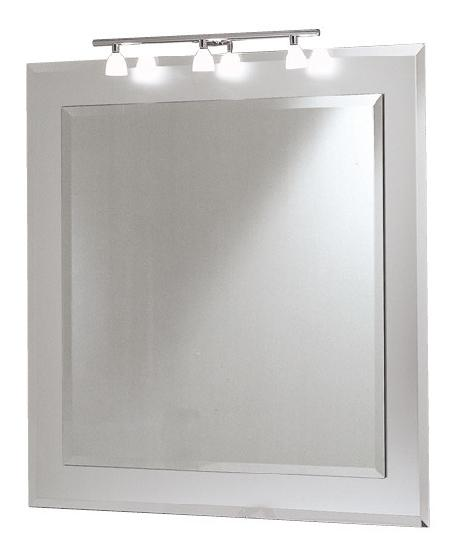 Ibis is a bevelled mirror framed with a satin deco
