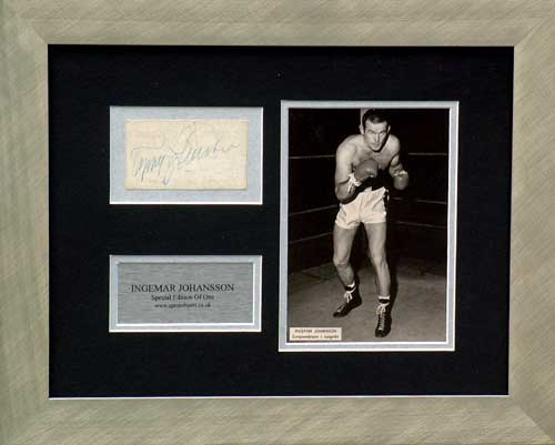 Unbranded Ingemar Johansson signed and framed photo presentation