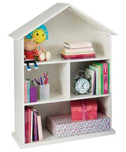 Ivory Painted Childrens House-shaped Bookcase - review, compare prices, buy online