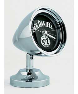 A smart retro-styled alarm clock in chrome finish with Jack Daniels designed face.Quartz movement,
