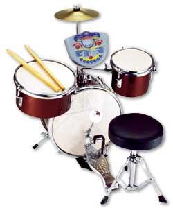 Junior 4 Piece Real Drum Set Drum Kit Review Compare