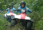 Navigate your way through the rugged terrain of the woodland on a quad bike. These little monsters