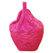 Kids Faux Fur Beanbag, Pink product image