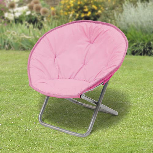 Kids love these super comfortable moon chairs in Blue and Pink colours