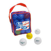 This reusable zip top carry bag contains 36 golf balls by a variety of leading brands including Nike