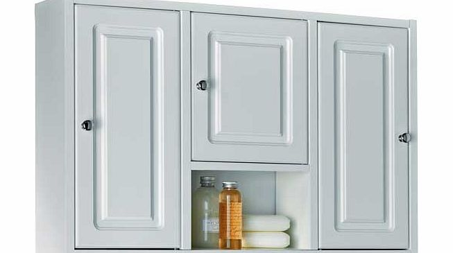 Large Wooden 3 Door Bathroom Cabinet