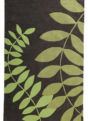 Unbranded Leaves Rug 230x160cm - Green and Grey