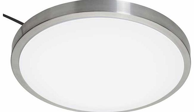 The Lido LED Bath Flush Light is great for bringing a contemporary feel to a room. This light is compatible with a dimmer switch. Size H18. W45. D7cm. Drop 18cm. Diameter 30cm. Suitable for bathroom use. IP rating 20. Requires wiring. Bulbs required
