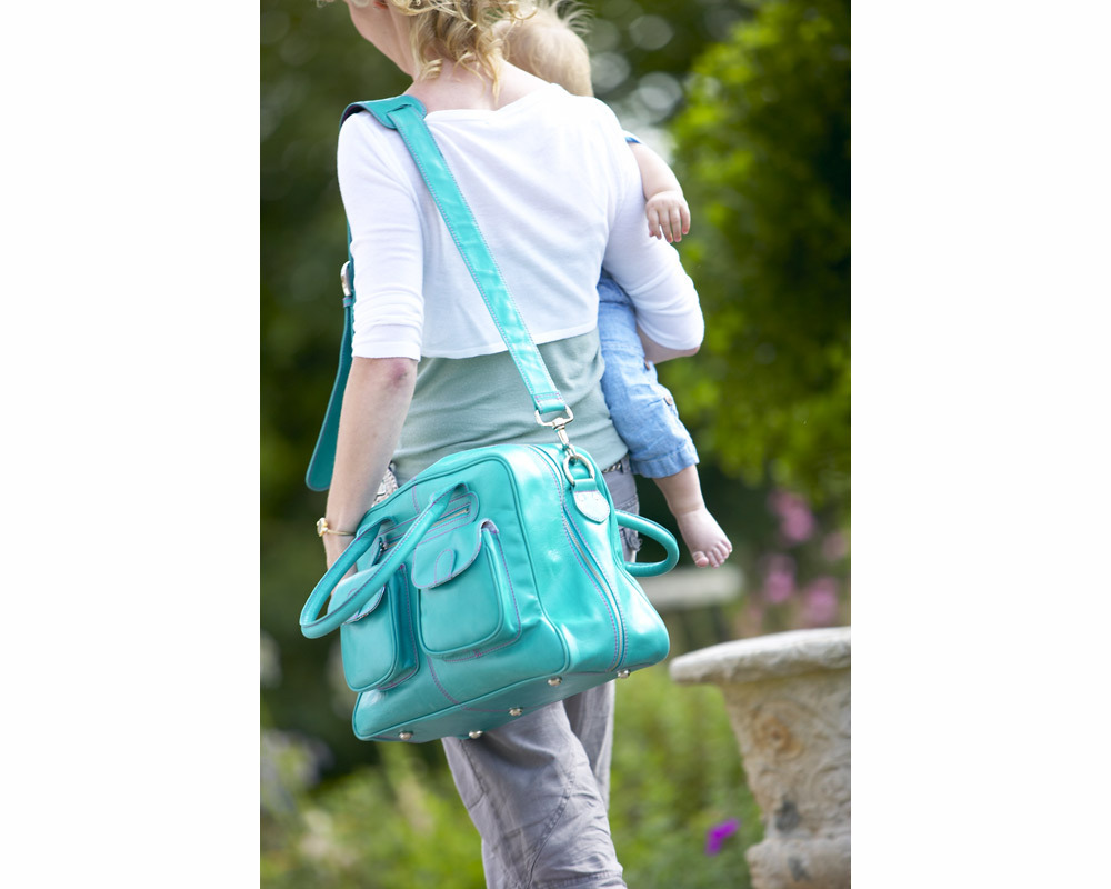 Luxury Leather Baby Changing Bag product image