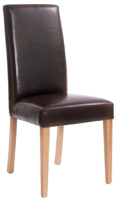 Mare Brown Dining Chair - Fully Upholstered