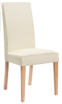 Mare Cream Split Leather Dining Chair