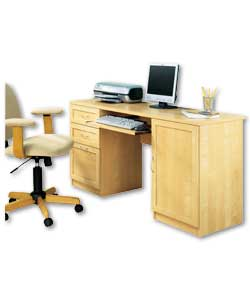 Melbourne Contemporary Desk Golden Birch Effect fice