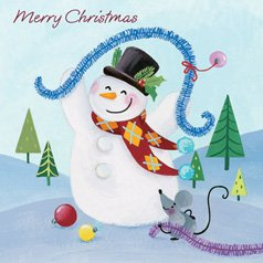 Merry Christmas Snowman Card product image