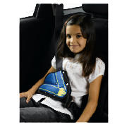 The Metro shoulder belt adjuster is designed to help children sit comfortably when restrained by an