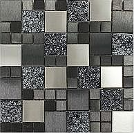 Create a luxurious feature in your home with Metallic Random Mix MosaicThis glass mosaic is ideal for giving a modern twist to the average kitchen or bathroom providing subtle yet striking design possibilitiesMosaics provide unlimited unique fixing s