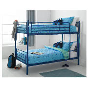 Unbranded Mika Metal Twin Bunk Bed Navy