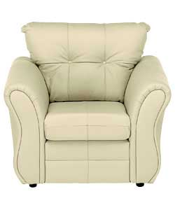 Minozzo Leather Chair - Ivory