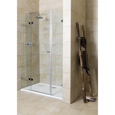 Mirabella Frameless Shower Door 120A Left Adj Review Compare Prices Buy