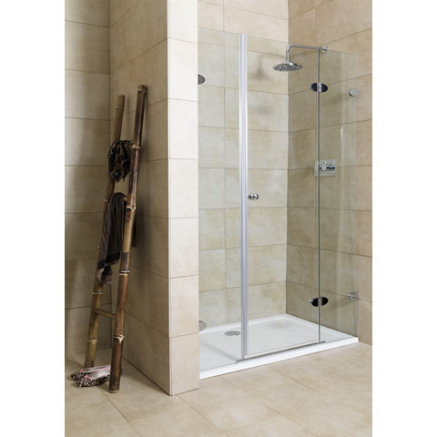 Mirabella Frameless Shower Door 120B Right Adj Review Compare Prices Bu