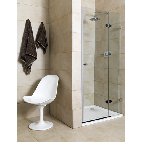 Mirabella Frameless Shower Door 90B Right Adj Review Compare Prices Buy