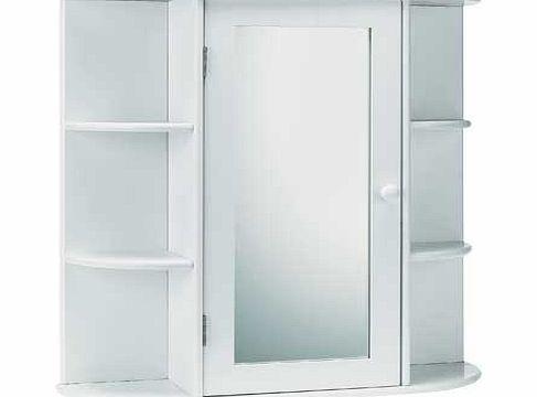 this contemporary bathroom cabinet with mirror door offers plenty of