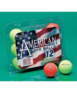 Optic/coloured golf balls.Reclaimed golf balls. Brightly coloured balls, easier to find