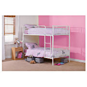Unbranded Molly Twin Bunk Bed, White, With Standard