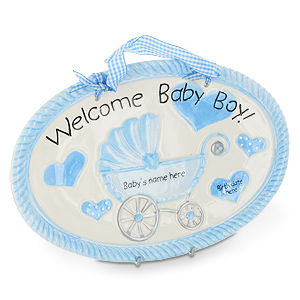 Gifts  Baby  on Mud Pie Welcome Baby Boy Personalization Wall   Review  Compare Prices