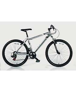 Colour of frame silver. 21 Shimano gears.Gear type EZ fire. Front brakes V-Type.Rear brakes V-Type.