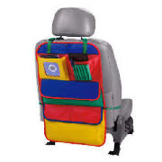 This Tesco multicolour organiser keeps childrens toys neat and tidy. It features 4 generous pockets