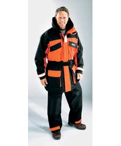Hi visibility colours and built in buoyancy foam will help save your life in an emergency. Size