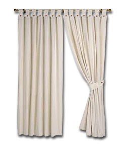 Pair of Natural Lima Ready Made Curtains - (W)46, (D)72ins