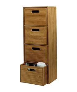 Natural narrow bamboo wide 4 drawer storage tower review for Narrow storage tower